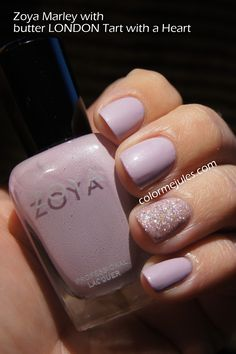Zoya Marley with butter LONDON Tart with a Heart - www.colormejules.com