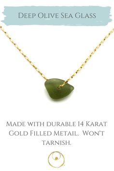 Genuine sea glass and gold necklace, handmade with love. Sea Glass Necklace, Sea Glass Jewelry, Jewelry Shop, Jewelry Making, Dainty Gold Jewelry, Arrow Necklace, Gold Necklace, 14 Karat Gold, Women Jewelry