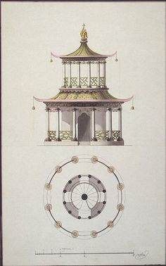 Plan-and-Design-of-the-Facade-of-a-Round-Chinese-Pavilion.jpg (465×745)