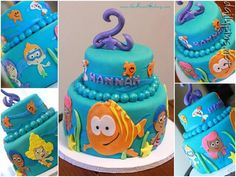 bubble guppies cake #awesome Just what I needed to see! Addison's 2nd bday is going to be bubble Guppies!