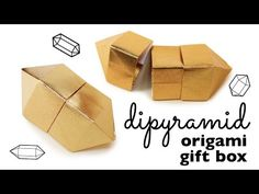 Origami Gem Box Instructions - YouTube