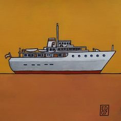 126 yacht - signed and numered GICLEEPRINT 14 x 14 cm / 5.5 x 5.5