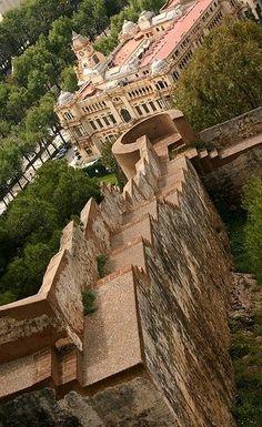 Ayuntamiento de Málaga visto desde el castillo