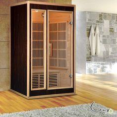 Buy Luxo Terve 2 Person Carbon Fibre Infrared Sauna Online Australia