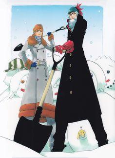 bleach, ichigo kurosaki and renji abarai image on We Heart It Bleach Fanart, Bleach Manga, Kubo Tite, Renji Abarai, Manga Anime, Anime Art, Bleach Funny, Japanese Poster Design, Bleach Color