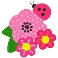 ladybug and flower applique