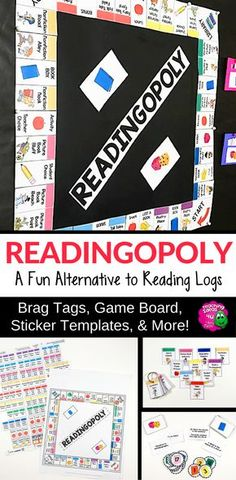 READINGOPOLY: Reading Logs & Summer Reading Program 3rd - 7th Grades