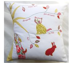 Large Personalised Applique Animal Cushion