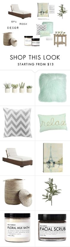 """""""Spa Room"""" by galaxy-taco on Polyvore featuring interior, interiors, interior design, home, home decor, interior decorating, Chatham, Allstate Floral, Pillow Decor and Intelligent Design"""