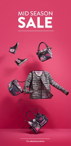 Boho bags, tailored jackets and floral chelsea boots: Desigual has your Spring staples sorted. With off, you can shop the whole look! Creative Poster Design, Ads Creative, Creative Posters, Web Design, Email Design, Layout Design, Graphic Design, Newsletter Design, Boho Bags