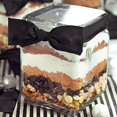 Tuxedo #Brownies in a Jar | MyRecipes.com