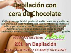 Depilacion con cera de chocolate