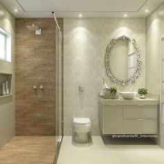 65 Most Popular Small Bathroom Remodel Ideas on a Budget in 2018 Bathroom Design Small, Bathroom Layout, Bathroom Interior Design, Modern Bathroom, Ideas Baños, Toilet Design, Bathroom Inspiration, Decoration, Home Decor