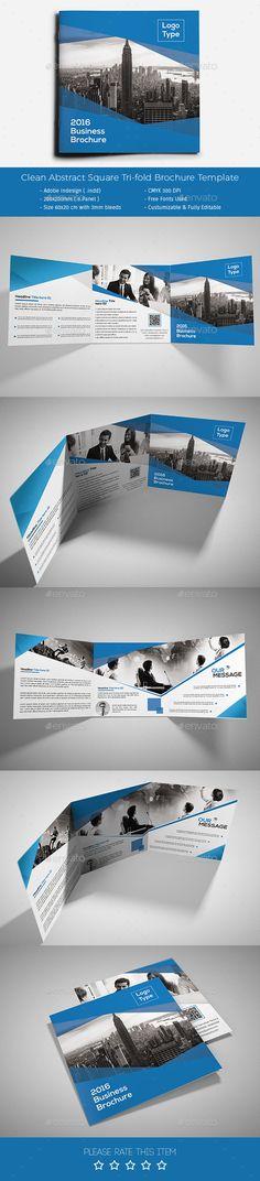 Corporate Tri-fold Square Brochure Template PSD #design Download: http://graphicriver.net/item/corporate-trifold-square-brochure-10/13500555?ref=ksioks