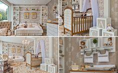 Este quarto teve como ponto de partida misturar madeira e branco e segue um estilo mais despojado e contemporâneo ao usar um papel de parede de tijolinho. Apesar disso, utiliza uma linha mais clássica de mobiliário. (créditos: Divulgação / Keyla Kinder)