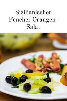 Der Sizilianischer Fenchel-Orangen-Salat ist eine geschmackvolle Vorspeise, die an Italien erinnert. Sie schmeckt besonders fruchtig. #fenchel #orange #salat #sizilien #fenchelsalat #orangensalat #gesund #gesundeküche #fenchelorangensalat foto ©ep:austria Food Blogs, Foodblogger, Fruit Salad, German, Appetizers, Party, Italian Meals, Sicily, Healthy