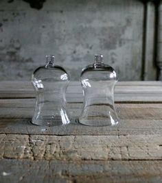 2 Bell Shape Glass Cloches by therhubarbstudio on Etsy