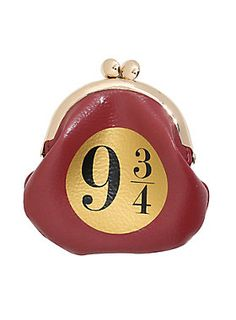 """What better way to keep your change safe on the Hogwarts Express than with this Platform 9 3/4 coin purse from <i>Harry Potter</i>? The kisslock closure is sure to keep your money safe.<div><ul><li style=""""list-style-position: inside !important; list-style-type: disc !important"""">Polyurethane</li><li style=""""list-style-position: inside !important; list-style-type: disc !important"""">Approx. 3 3/4"""" x 4""""</li><li style=""""list-style-position: inside !important; list-style-type: disc !important"""">..."""
