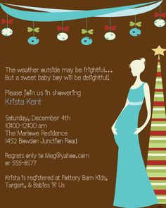 Christmas Baby Shower Invitations - Expressions Paperie.  Clever.