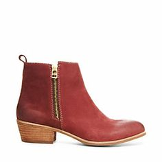 RIOVISTA booties in Red Steve Madden