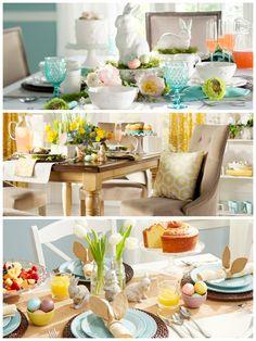 Ideen für den Ostertisch I #frühstück #ostern #tischdeko #brunch I http://www.wayfair.de/tipps-und-ideen/Deko-Idee-3-Looks-f%C3%BCr-die-Ostertafel-E10694