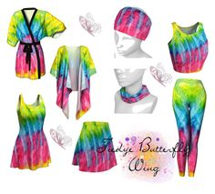 """""""Tiedye Butterfly Wing Products"""" by coribeth ❤ liked on Polyvore"""