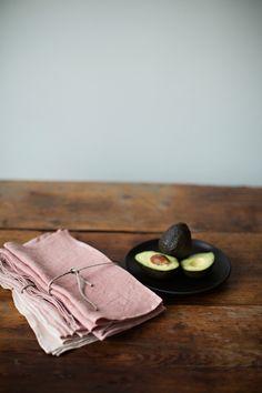 Image of Natural Dyed Napkins - Avocado