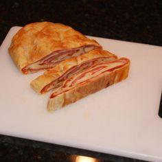 Puff pastry Stromboli