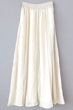 Cream silk maxi skirt #skirt #fashion #style