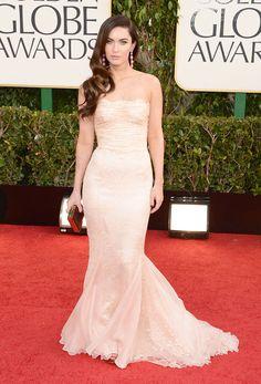 Golden Globes Awards 2013: Meghan Fox en un vestido de Dolce & Gabbana.
