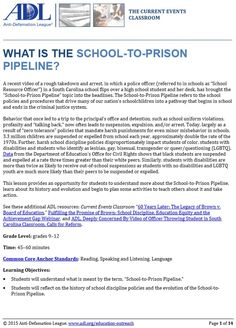 South Carolina Schools, Criminal Justice, School Resources, White Paper, Current Events, Prison, High School