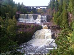 Gooseberry Falls, Two Harbors, MN. The crown jewel of the North Shore, Gooseberry Falls is one of the most recognizable sites in the state. Best Places To Camp, Places To Visit, Gooseberry Falls, Midwest Vacations, Used Camping Gear, Two Harbors, Grand Marais, Fall Images, Lake Superior