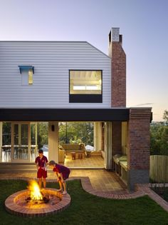 Central Avenue » Vokes and Peters Bricks and firepit