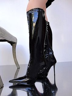 KARLA MALTHON KNEE HIGH HEEL BOOTS www.charlotte-luxury.com