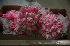 buquês de tulipas em tecido - para casamento - madrinhas