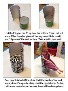 Pringles Can Barbie Chair tutorial