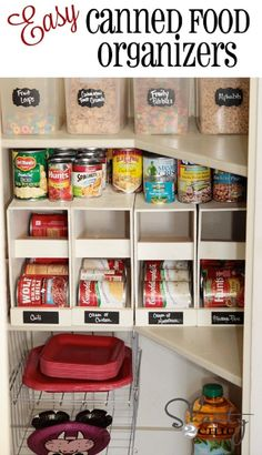 Stackable Canned Food Organizersr - 10 Best DIY Home Organization Projects #homeorganization