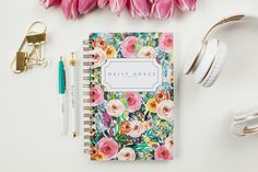 Daily Edition - Bloom Floral CoverThis Planner is undated, you can write in your own dates.Each daily page has a...