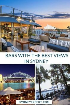 This list of bars with a view of Sydney are one of the the ways to take in the cities best views for Free? Sounds like a good plan right? Sydney Australia, Australia Travel, Western Australia, Sydney City, Sydney Trip, Sydney Restaurants, Best Rooftop Bars, New Zealand Travel, Beach Bars