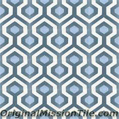 Skyline Design Handmade cement tile by Original Mission Tile - all cement tiles can be customized to create your own tile according to your project& specs and tile colors Wood Look Tile Bathroom, Skyline Design, White Sink, Diy Bathroom Remodel, Mediterranean Homes, Color Tile, Unique Photo, Art Nouveau, The Originals