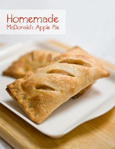 I don't remember when the last time I had McDonald's Apple Pie. I remember growing up in Hong Kong, McDonald's restaurants weren't very popular until I was a kid. The apple pie has always been one . Copycat Recipes, Pie Recipes, Cooking Recipes, Cooking Cake, Cooking Tips, Mcdonalds Apple Pie, Cannoli, Beignets, Cinnamon Apples