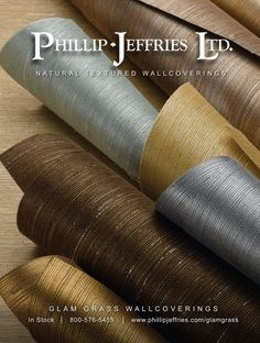 phillip jeffries glam grass metallic grasscloth wallpaper.. beautiful and interesting, texture