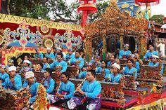 Balinese Arts Festival, Bali  Gamelan musicians perform during the Balinese Arts Festival.