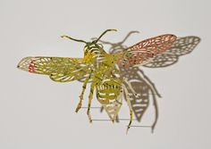 bees papercut | claire brewster