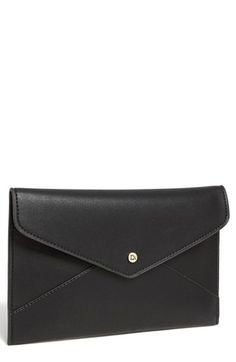 $35, Black Leather Clutch: Danielle Nicole Tina Faux Leather Envelope Clutch Black. Sold by Nordstrom. Click for more info: http://lookastic.com/women/shop_items/72122/redirect