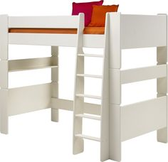 Steens For Kids Single Highsleeper In White - The Steen's For Kids range offers up stylish, practical pieces ideal for children's bedrooms. With a pure white finish and simple, solid shapes a versatile range is created. Strong and sturdy, built to last.
