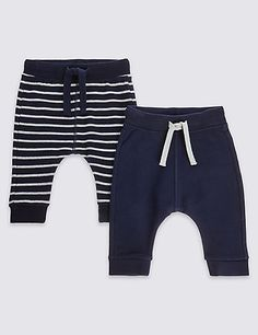 2 Pack Cotton Rich Assorted Joggers | M&S