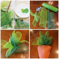 Miss Kopy Kat: Coathanger Deco Mesh Carrots