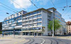 Der elegante 50-er-Jahre-Bau stammt aus der Feder von Roland Rohn und Werner Stücheli. (PD) Multi Story Building, Architecture