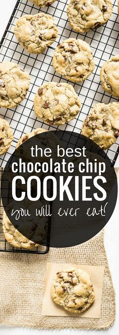The Best Chocolate Chip Cookies you will ever eat! (and they're gluten free!) Chewy centre, crispy edges, and just the right amount of chocolate chips.